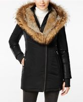 Rudsak Grace Fur-Trim Mixed-Media Puffer Coat