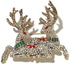"""Heidi Daus Comet and Cupid"""" Crystal-Accented Pin"""