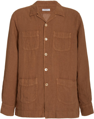 Boglioli Camp-Collar Linen Shirt