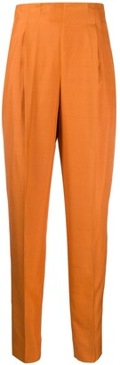 Romeo Gigli Pre-Owned 1990s Silk Pleated High-Rise Trousers