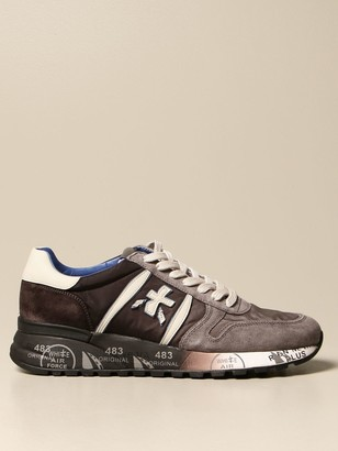 Premiata Sneakers Lander Sneakers In Suede, Leather And Nylon