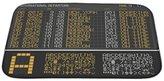Gear New Bath Rug Mat No Slip Microfiber Memory Foam, Airport Board, 34x21