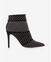 Express stud embellished heeled bootie