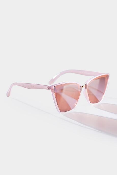 francesca's Charlotte Angular Cat Eye Sunglasses - Rose/Gold