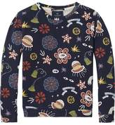 Scotch & Soda Printed Crew Neck Sweatshirt