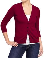 Old Navy Women's Rib-Knit 3/4-Sleeve Cardis