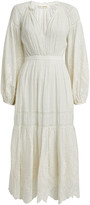 Ulla Johnson Bettina Embroidered Cotton Midi Dress