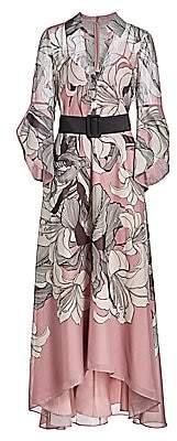 Badgley Mischka Women's Lotus Belted Shirt Dress