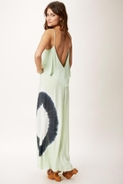 Blue Life Tie Dye Summer Lovin' Maxi Dress in Key Lime