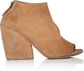 Marsèll Women's Asymmetric-Cutout Suede Ankle Boots