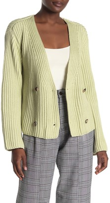 Emory Park Double Breasted Front Button Sweater Cardigan