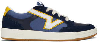 Vans Navy and Yellow Serio Collection Lowland Cc Sneakers