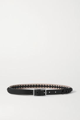 Alexander McQueen Knotted Leather Waist Belt - Black