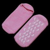 Pink Moisturize Soften Repair Cracked Skin Moisturizing Treatment Gel Spa Socks by AnOs-Health&Beauty