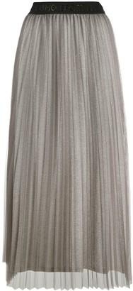Liu Jo High-Waisted Pleated Midi Skirt