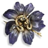 Alexis Bittar Lucite Snake & Floral Brooch