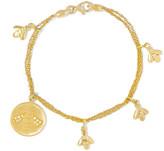 Carolina Bucci Virtue Lucky 18-karat gold diamond bracelet