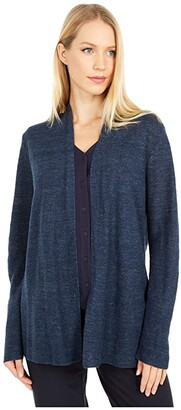 Eileen Fisher Straight Cardigan (Ink) Women's Clothing