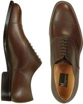 Moreschi Londra - Dark Brown Calfskin Cap Toe Oxford Shoes