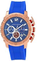 Vince Camuto Men's VC/1019BLRG The Striker Rose Gold-Tone Blue Resin Strap Chronograph Watch