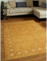 Manns Southwestern Hand-Knotted Wool Gold Area Rug Union Rustic Rug Size: Rectangle5' x 8'