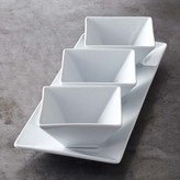 Williams Sonoma Open Kitchen Square Dip Bowl with Tray