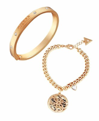 GUESS Duo Bracelet Set with Logo