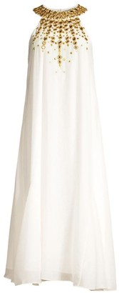 Rachel Zoe Sabrina Embellished Halter Cocktail Dress