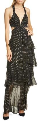 A.L.C. Lita Fil Coupe Silk Blend Maxi Dress