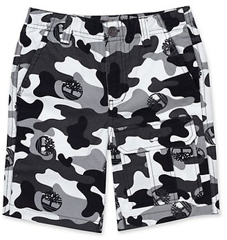 Timberland Boy's Regular-Fit Camo Utility Cotton Shorts