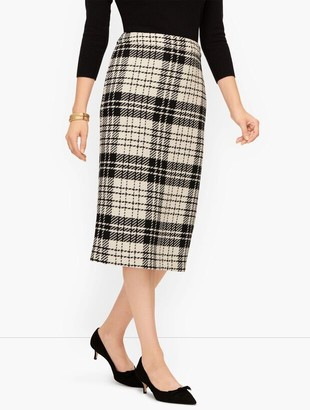 Talbots Twill Plaid Pencil Skirt
