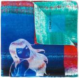 Etro mermaid print pocket square