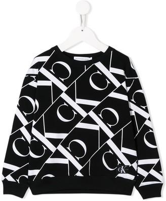 Calvin Klein Kids Logo Print Sweater