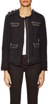 Rebecca Taylor Tweed Jacquard Embellished Pocket Jacket