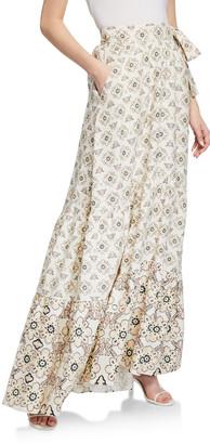 A.L.C. Caroline Stella-Print Circle Cut Maxi Skirt