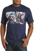 True Nation Captain America Vs. Iron Man Graphic Tee Casual Male XL Big & Tall