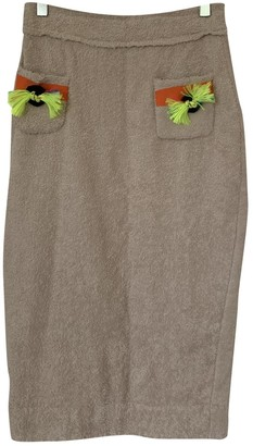 Meadham Kirchhoff Beige Cotton Skirts