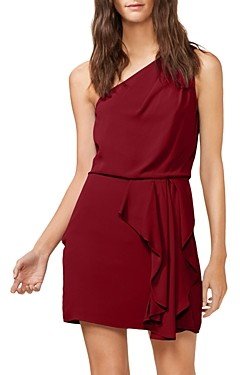 Halston One-Shoulder Ruffled Dress - 100% Exclusive