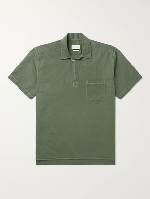 Oliver Spencer Yarmouth Linen And Cotton-Blend Half-Placket Shirt