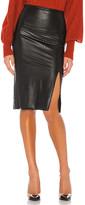 Commando Faux Leather Side Slit Midi Skirt