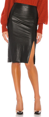 Commando Faux Leather Side Slit Midi Skirt