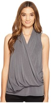 Lanston Asymmetrical Surplice Tank Top Women's Sleeveless