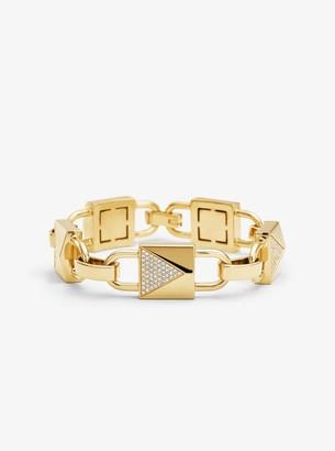 Michael Kors 14K Gold-Plated Sterling Silver Pave Large Mercer Link Bracelet