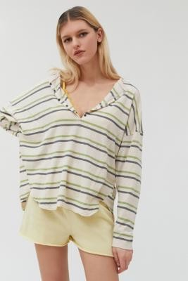 Out From Under Peaches Oversized Henley Top - Assorted XS at Urban Outfitters