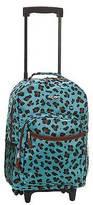 """Rockland Rolling Backpack - Blue Leopard (17"""")"""