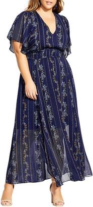 City Chic Paisley Play Maxi Dress