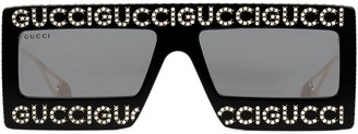Gucci Mask-frame acetate sunglasses