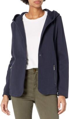 Kenneth Cole Women's Pebble Knit Hooded Blazer