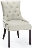 The Well Appointed House Hemmingway Dining Side Chair in Taupe Beige Linen