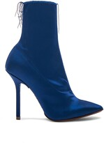 Vetements naked satin hankle boots blue